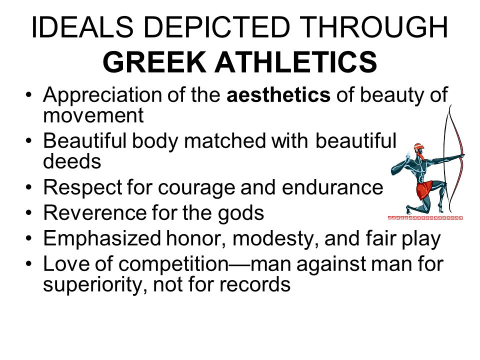 IDEALS DEPICTED THROUGH GREEK ATHLETICS