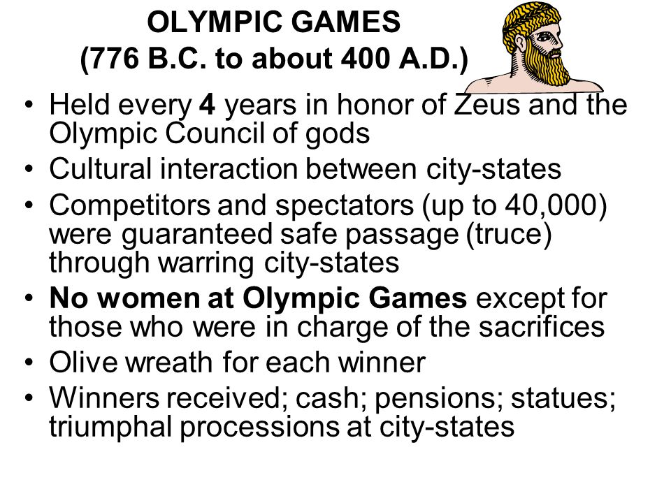 OLYMPIC GAMES (776 B.C. to about 400 A.D.)