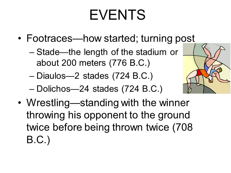 EVENTS Footraces—how started; turning post