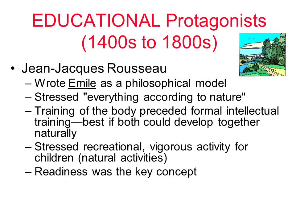 EDUCATIONAL Protagonists (1400s to 1800s)