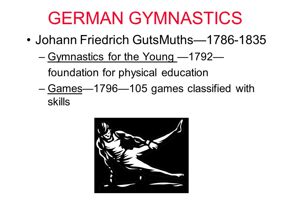 GERMAN GYMNASTICS Johann Friedrich GutsMuths—1786-1835