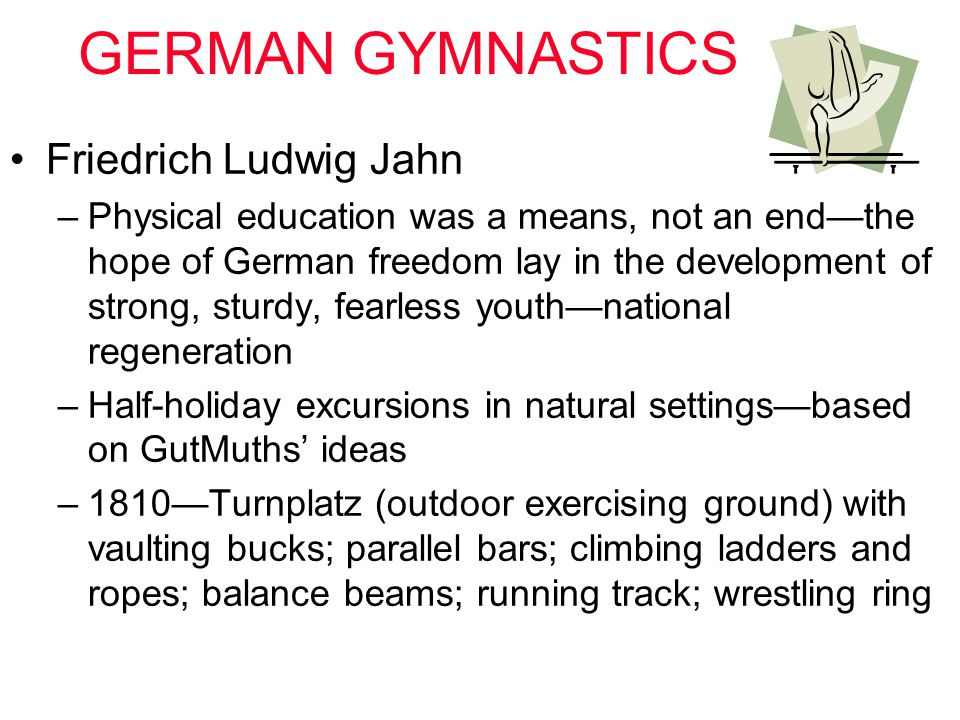 GERMAN GYMNASTICS Friedrich Ludwig Jahn