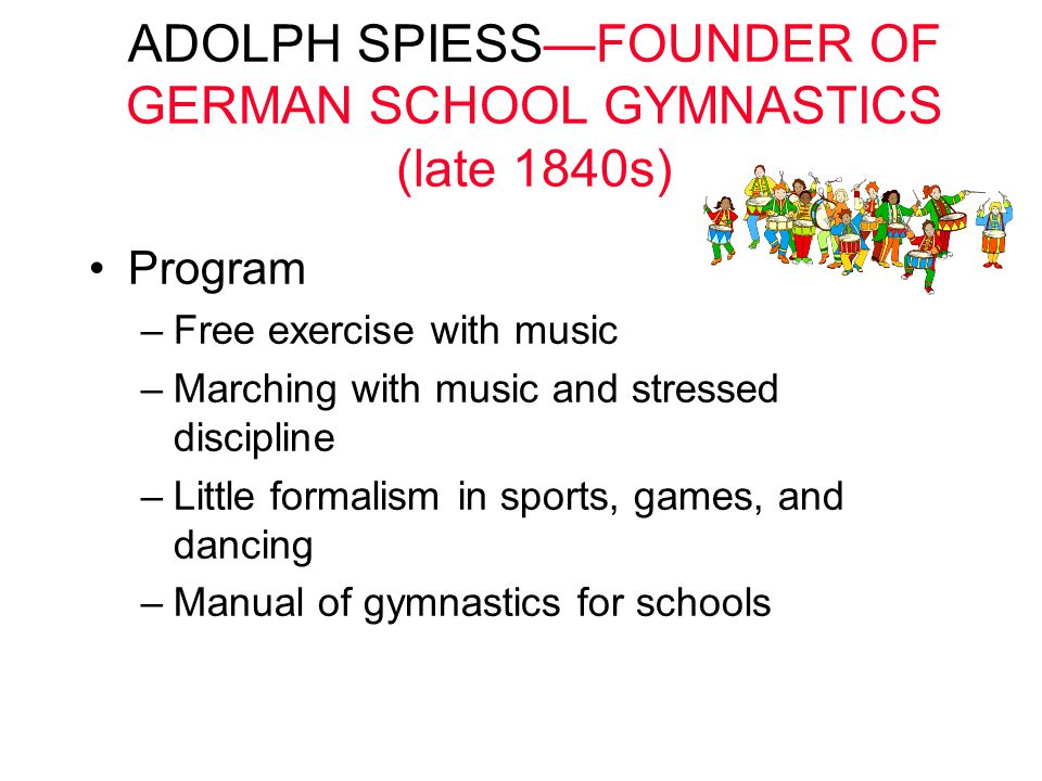 ADOLPH SPIESS—FOUNDER OF GERMAN SCHOOL GYMNASTICS (late 1840s)