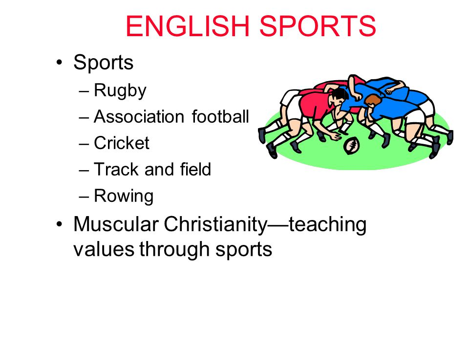 ENGLISH SPORTS Sports. Rugby. Association football.