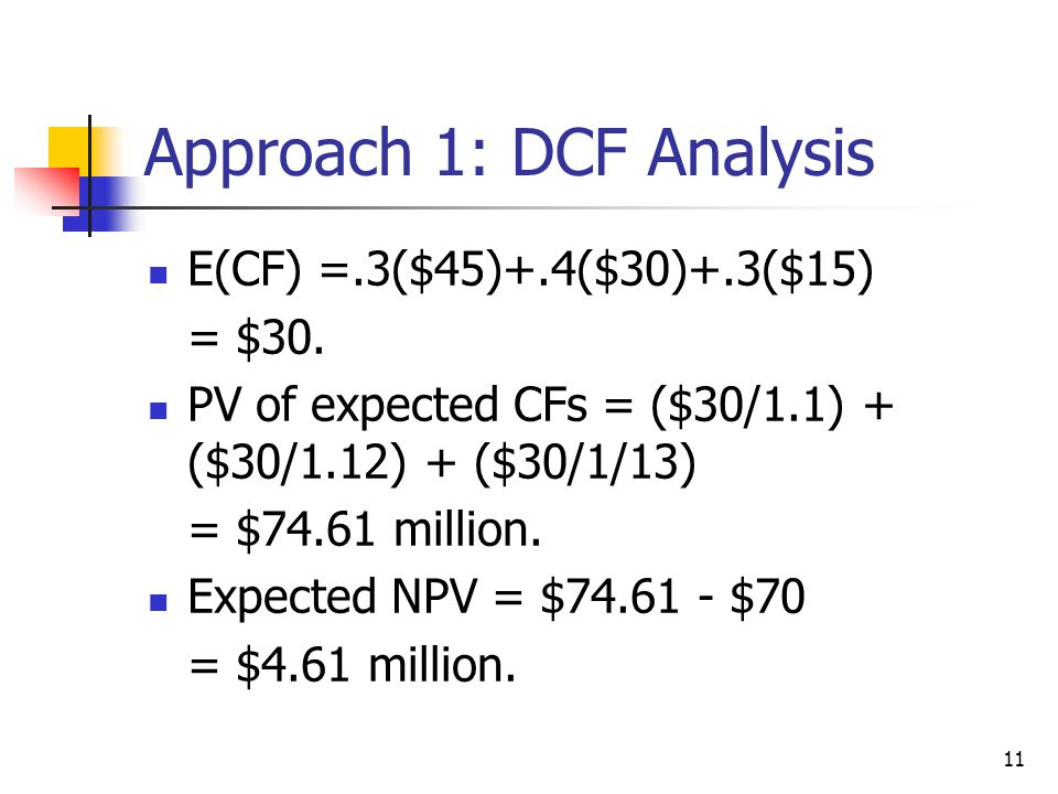Approach 1: DCF Analysis