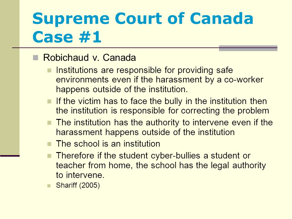Supreme Court of Canada Case #1