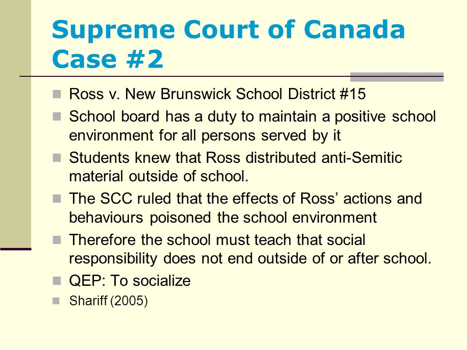 Supreme Court of Canada Case #2