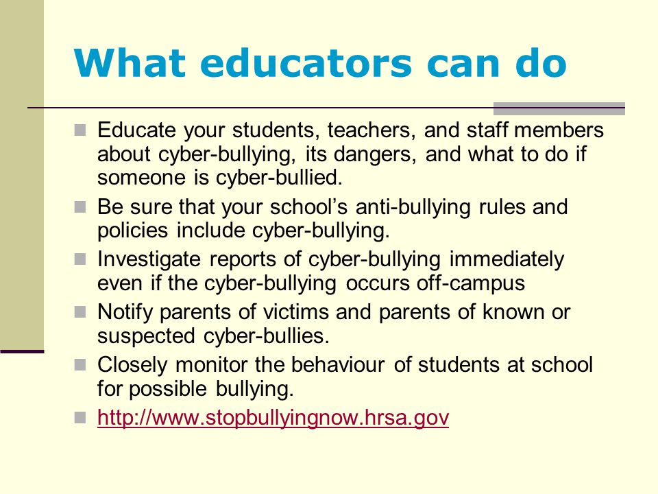 What educators can do