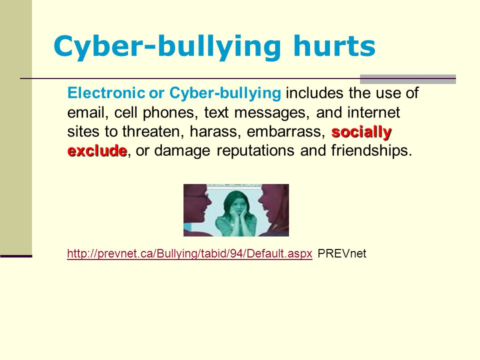 Cyber-bullying hurts