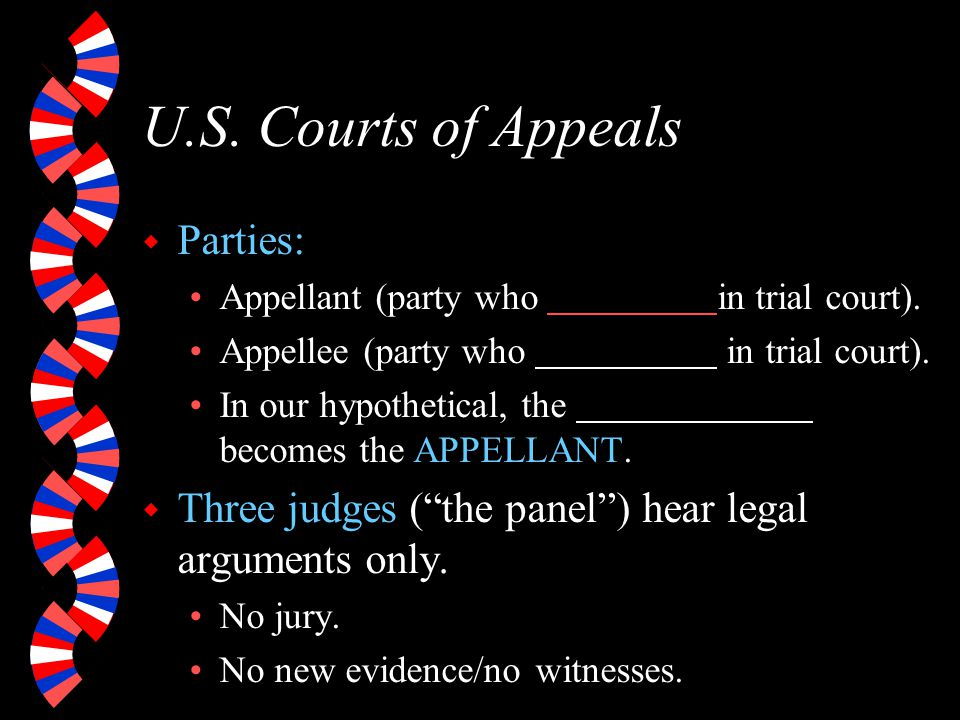 U.S. Courts of Appeals Parties: