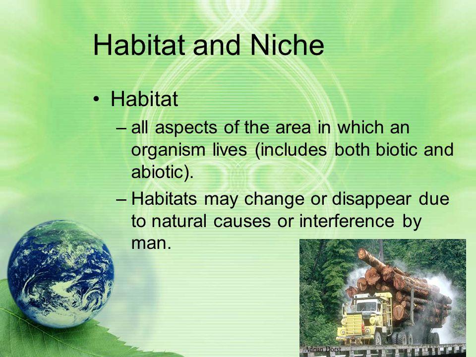 Habitat and Niche Habitat