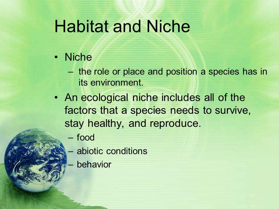 Habitat and Niche Niche