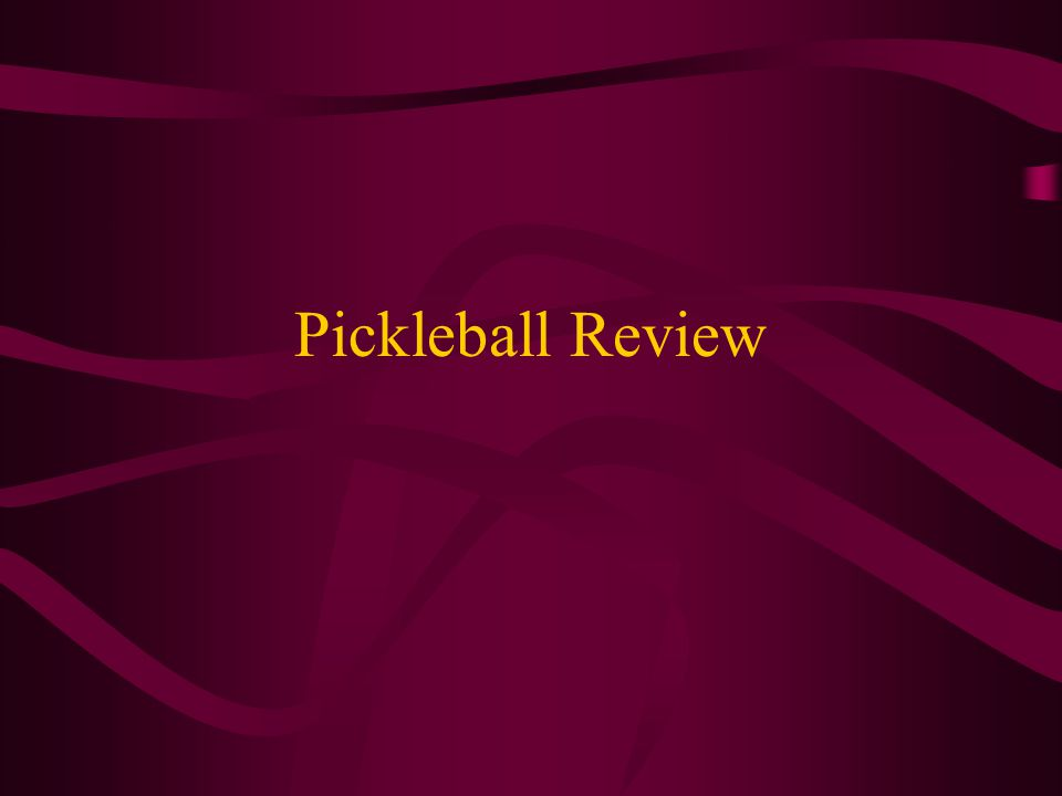 Pickleball Review