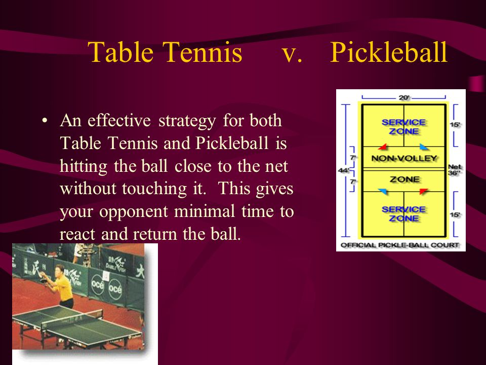 Table Tennis v. Pickleball