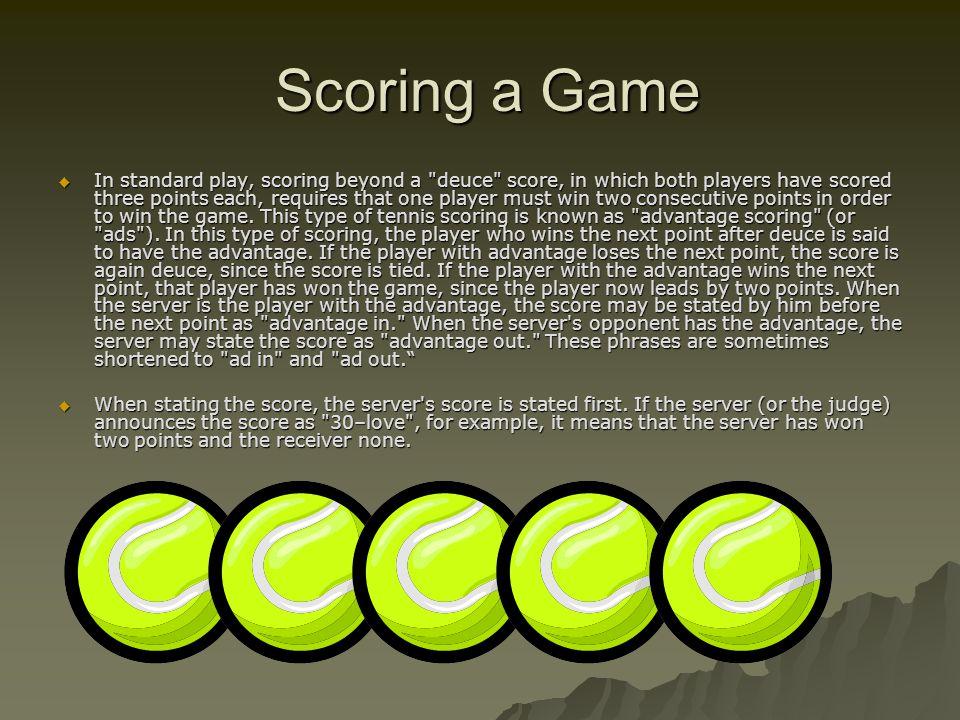 Scoring a Game