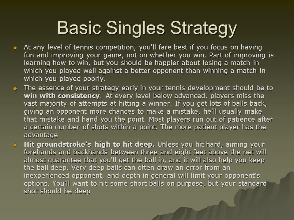 Basic Singles Strategy