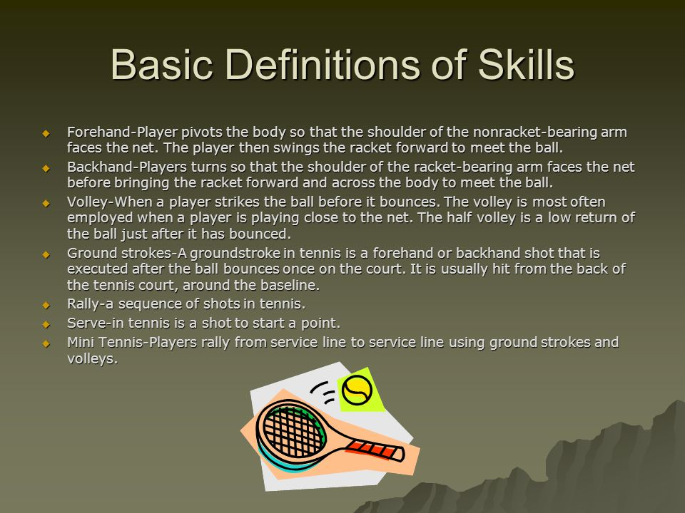 Basic Definitions of Skills