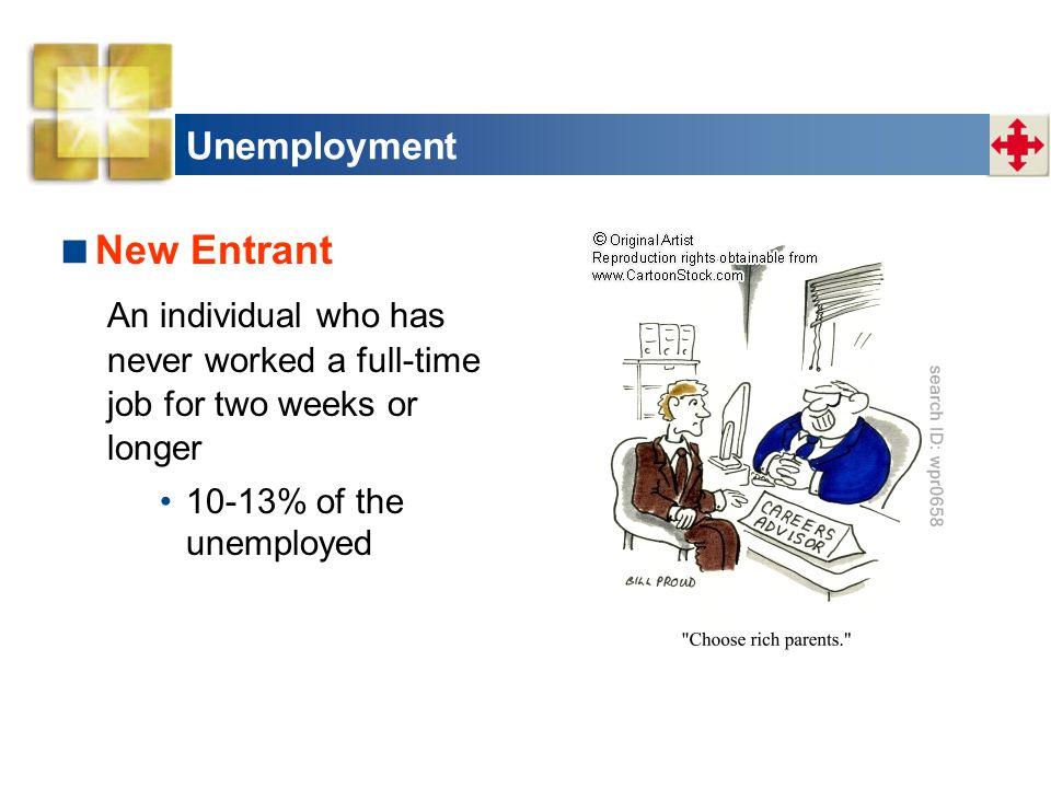 New Entrant Unemployment