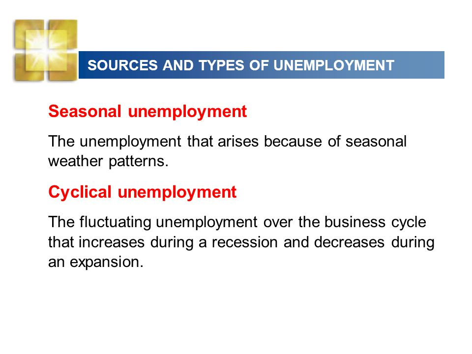 SOURCES AND TYPES OF UNEMPLOYMENT