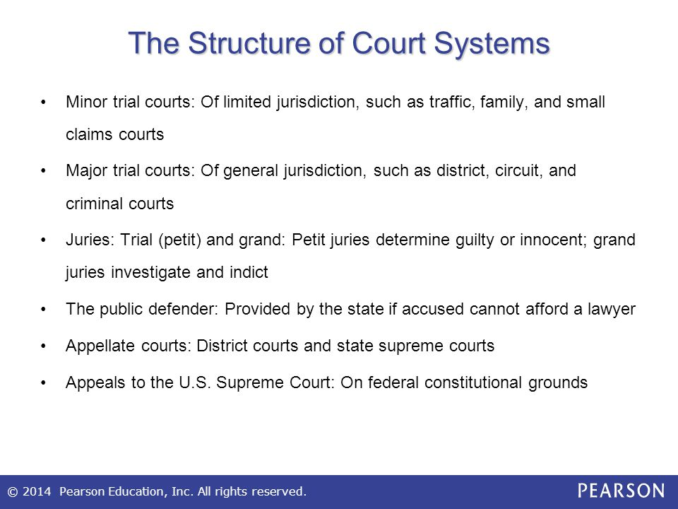 The Structure of Court Systems