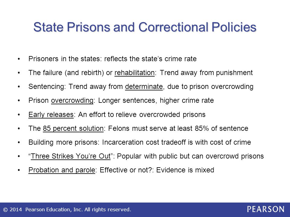 State Prisons and Correctional Policies