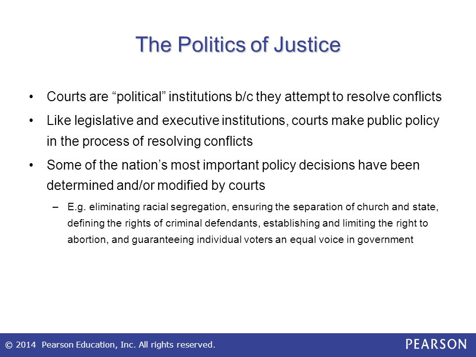 The Politics of Justice