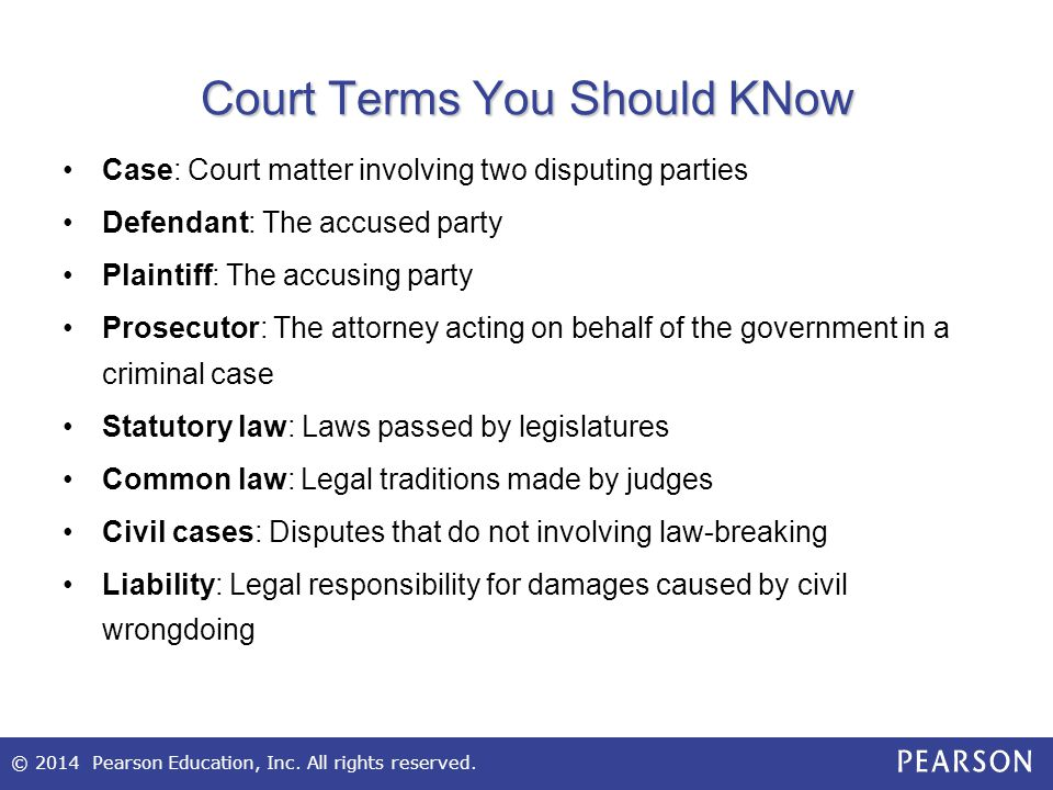 Court Terms You Should KNow