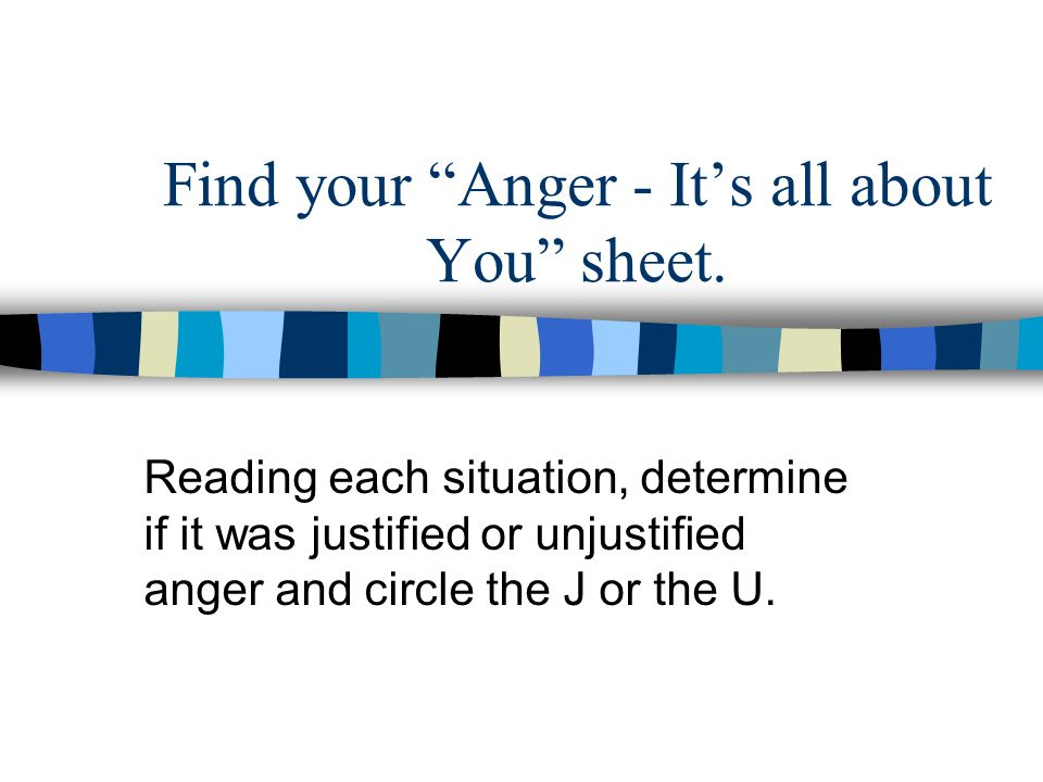 Find your Anger - It's all about You sheet.
