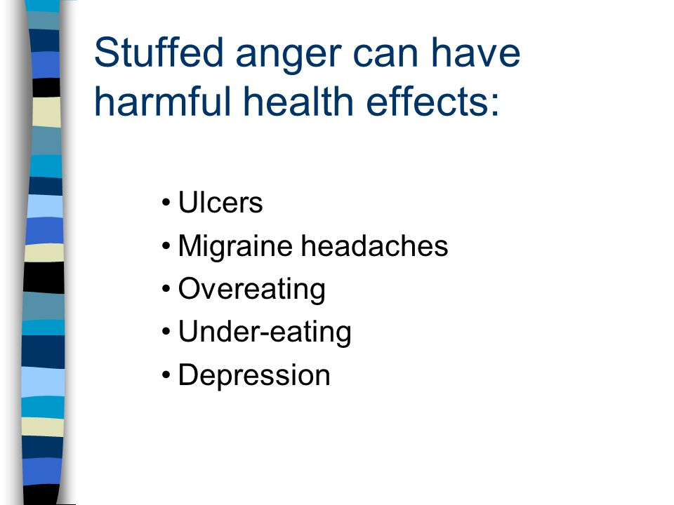 Stuffed anger can have harmful health effects: