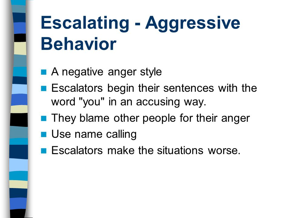 Escalating - Aggressive Behavior