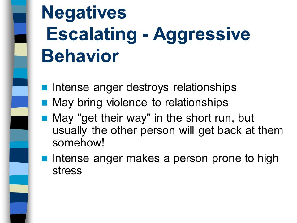 Negatives Escalating - Aggressive Behavior