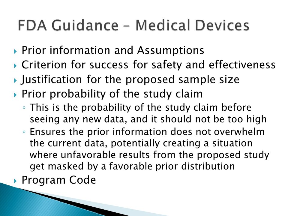 FDA Guidance – Medical Devices