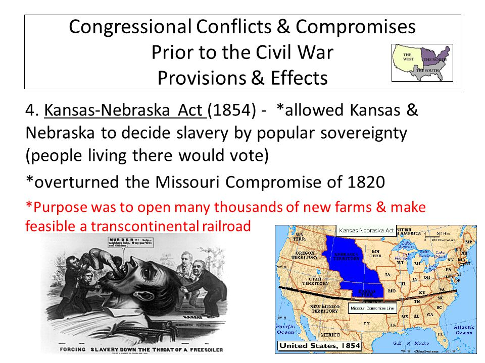 how did the kansas nebraska act impact the missouri compromise of 1820 Missouri compromise: war after the missouri compromise was repealed by the kansas-nebraska act from which the missouri compromise of 1820 had forever.
