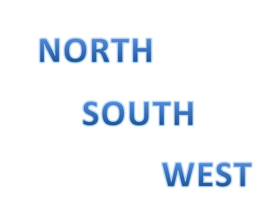 NORTH SOUTH WEST