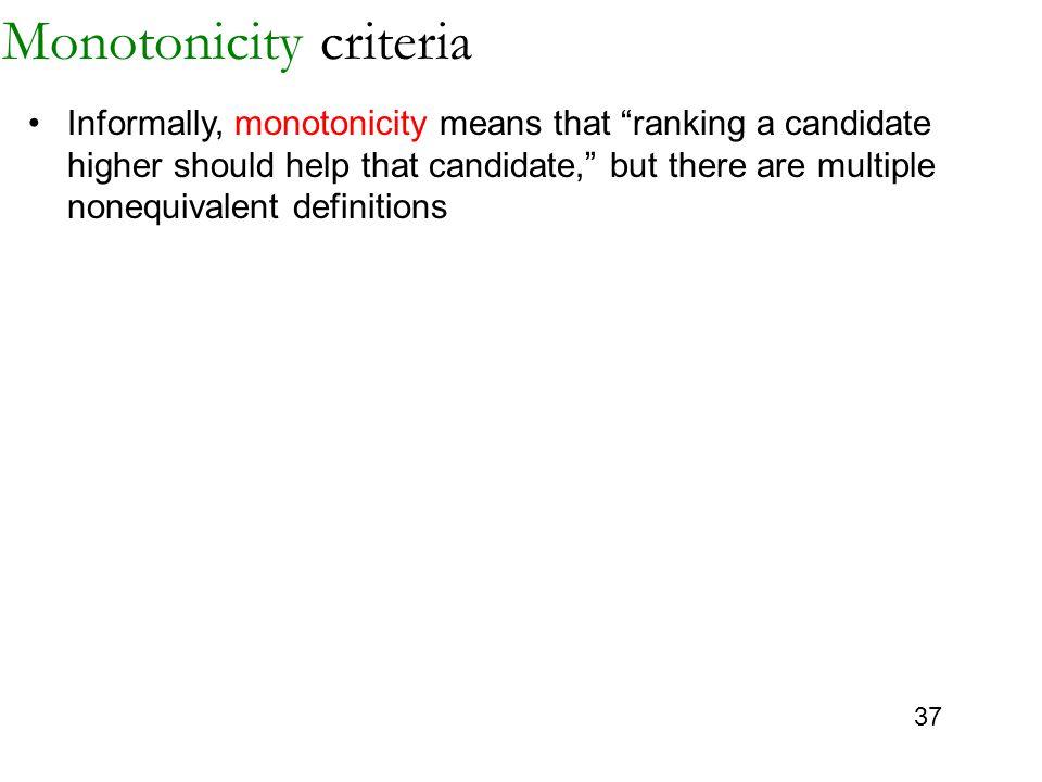 Monotonicity criteria