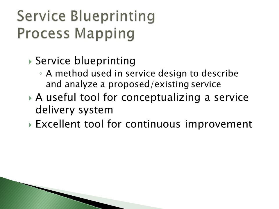 Service Blueprinting Process Mapping
