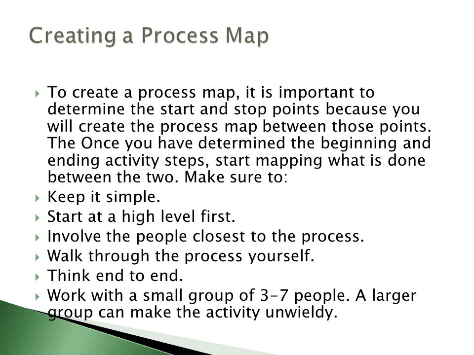 Creating a Process Map