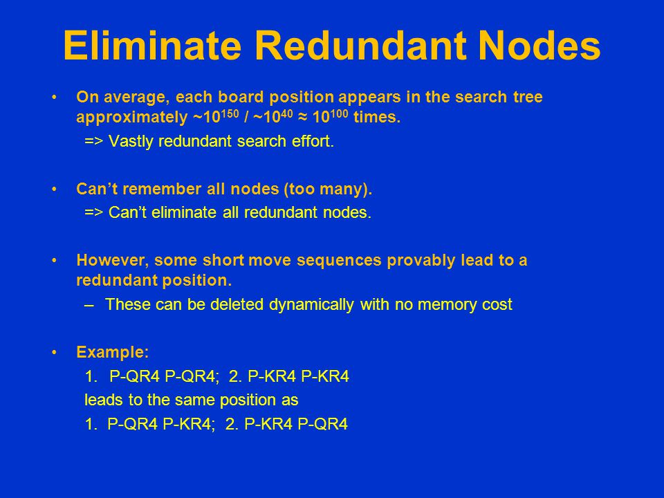 Eliminate Redundant Nodes