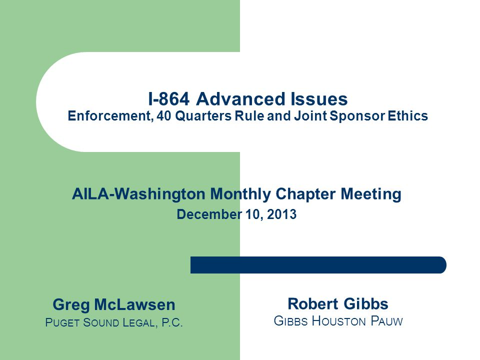 AILA-Washington Monthly Chapter Meeting