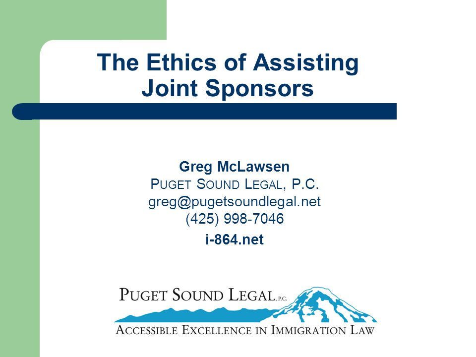 The Ethics of Assisting Joint Sponsors