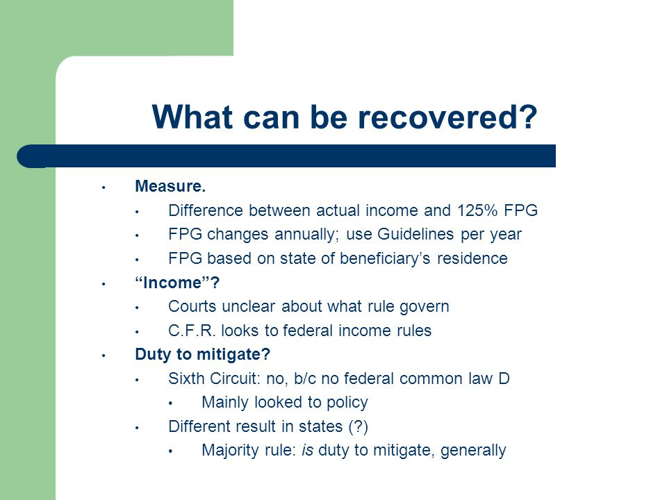 What can be recovered Measure.