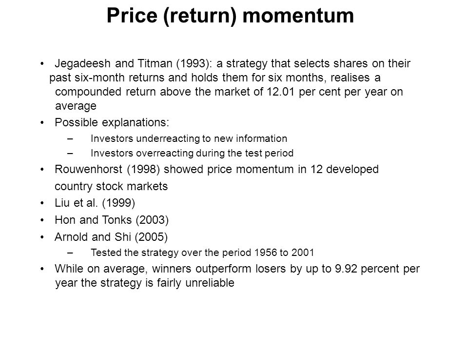Price (return) momentum