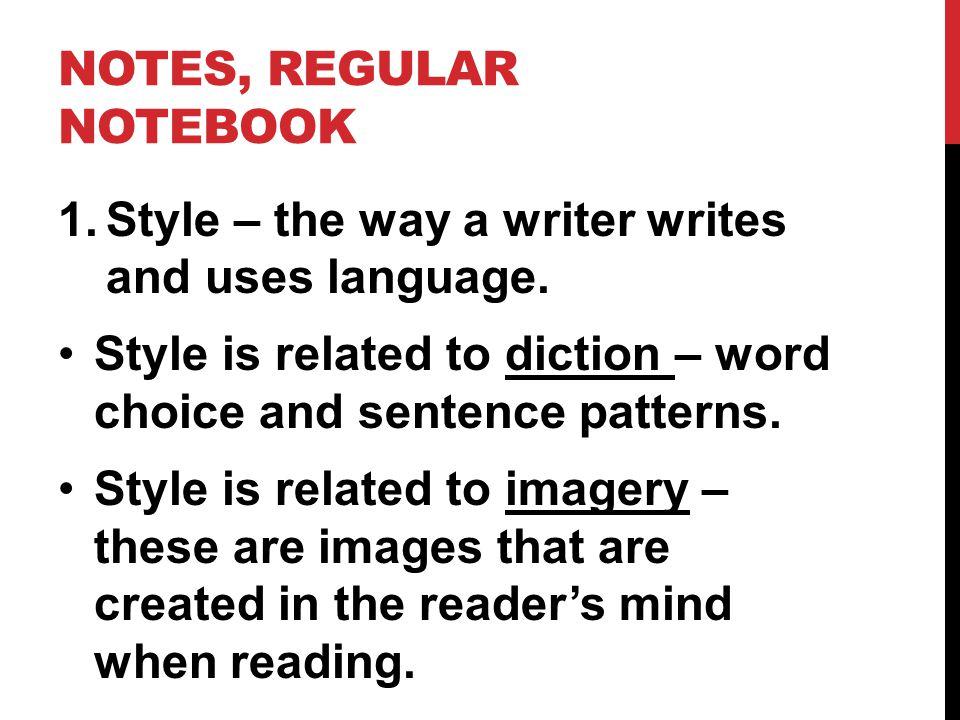 Notes, Regular notebook