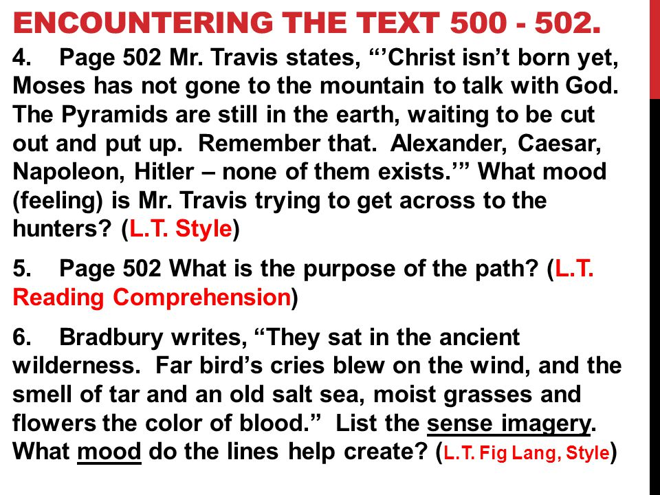 Encountering the Text 500 - 502.