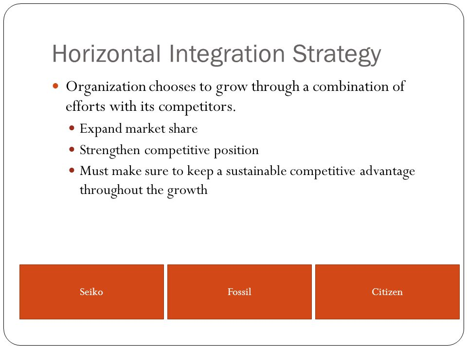 Horizontal Integration Strategy