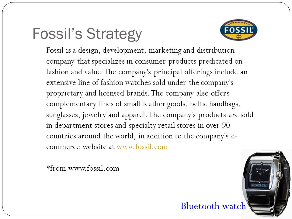 Fossil's Strategy Bluetooth watch