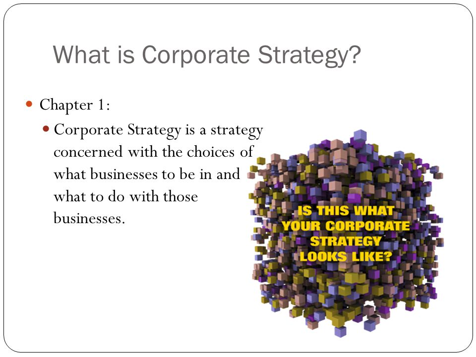 What is Corporate Strategy