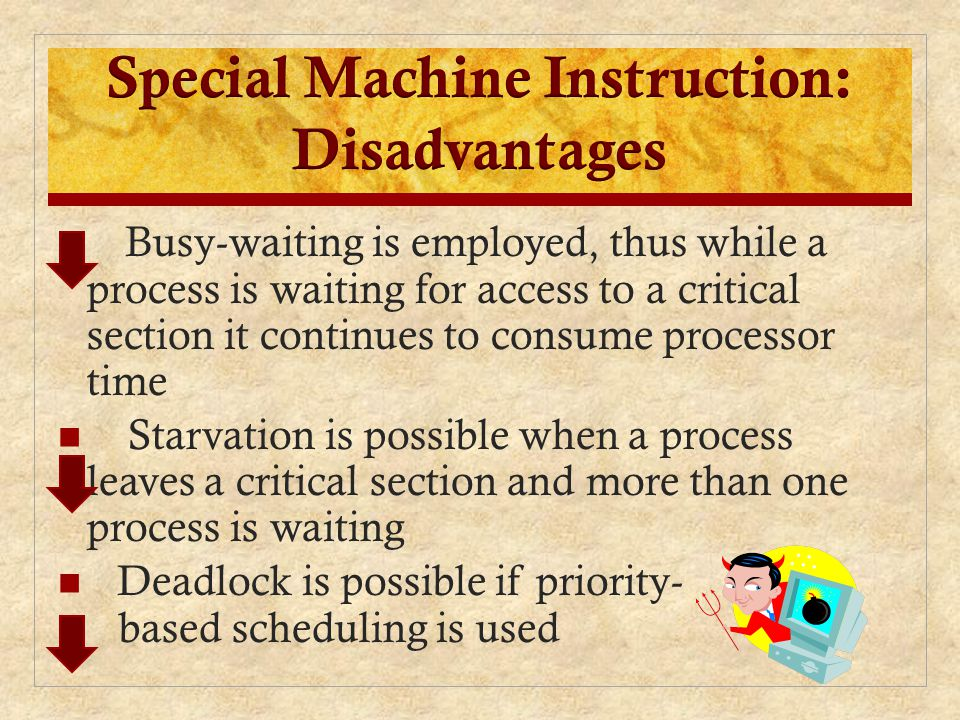 Special Machine Instruction: Disadvantages