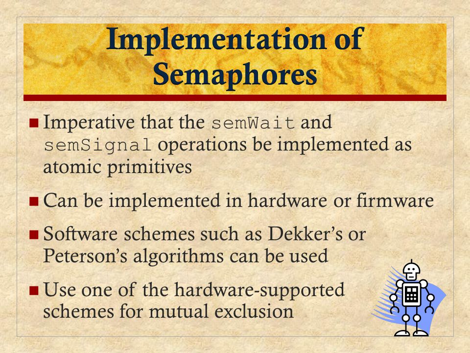 Implementation of Semaphores