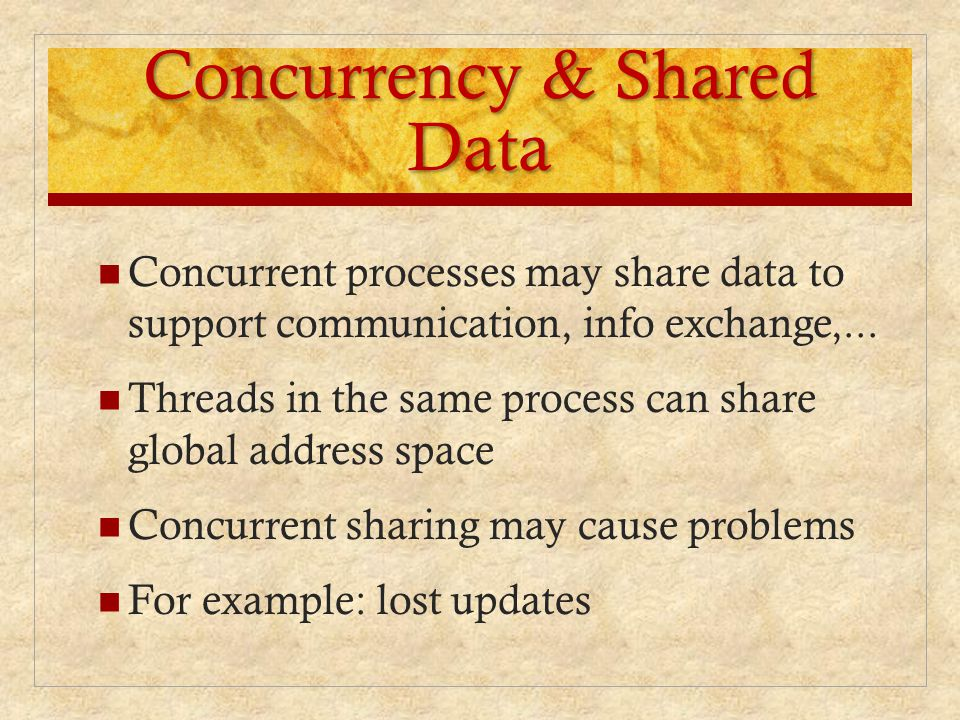 Concurrency & Shared Data
